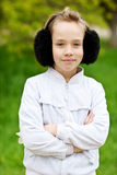 Retrato de la muchacha rubia Imagen de archivo