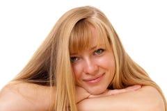 Retrato de la muchacha rubia. Imágenes de archivo libres de regalías