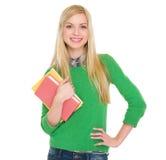 Retrato de la muchacha sonriente del estudiante Imagen de archivo