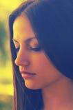 Retrato de la muchacha triste hermosa Imagenes de archivo