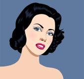 Retrato de la mujer libre illustration