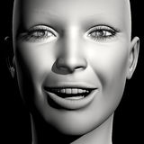 retrato de la mujer 3D Foto de archivo libre de regalías