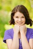 Retrato de la mujer alegre joven Fotografía de archivo libre de regalías