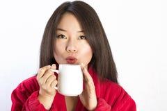 Retrato de la mujer asiática joven y hermosa. Imágenes de archivo libres de regalías