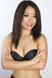 Retrato de la mujer asiática joven y hermosa. Fotografía de archivo libre de regalías
