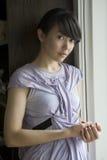 Retrato de la mujer atractiva asiática Imagen de archivo libre de regalías
