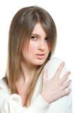 Retrato de la mujer atractiva atractiva Fotos de archivo