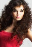 Retrato de la mujer atractiva con maquillaje hermoso Imagen de archivo libre de regalías
