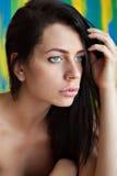 Retrato de la mujer bastante joven Imagen de archivo libre de regalías