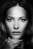 Retrato de la mujer bonita Fotos de archivo