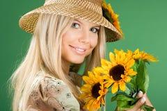 Retrato de la mujer bonita Imagen de archivo libre de regalías