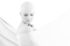 Retrato de la mujer calva - cáncer de pecho Awereness fotos de archivo