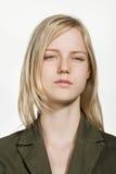 Retrato de la mujer caucásica joven Imagen de archivo libre de regalías