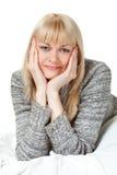 Retrato de la mujer de Blondie Imagen de archivo