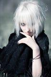 Retrato de la mujer de Goth Imagen de archivo libre de regalías