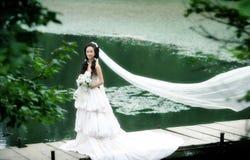 Retrato de la mujer de la boda Foto de archivo