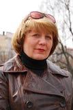 Retrato de la mujer de la Edad Media Foto de archivo libre de regalías