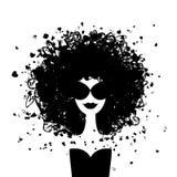 Retrato de la mujer de la manera para su diseño stock de ilustración