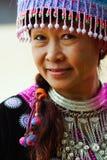Retrato de la mujer de la tribu de la colina Imagen de archivo
