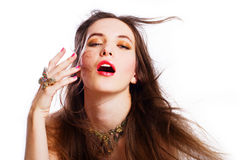 Retrato de la mujer de lujo joven de la belleza Imagen de archivo libre de regalías