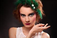 Retrato de la mujer de moda Fotografía de archivo
