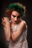 Retrato de la mujer de moda Foto de archivo