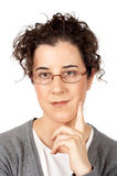 Retrato de la mujer de negocios Imágenes de archivo libres de regalías