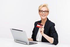 Retrato de la mujer de negocios imagen de archivo