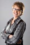 Retrato de la mujer de negocios acertada Fotos de archivo