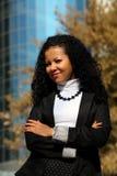 Retrato de la mujer de negocios al aire libre Foto de archivo libre de regalías