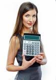 Retrato de la mujer de negocios del contable Imagen de archivo