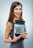 Retrato de la mujer de negocios del contable Fotografía de archivo