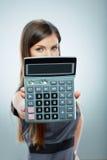 Retrato de la mujer de negocios del contable Imagenes de archivo