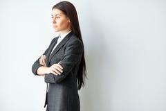 Retrato de la mujer de negocios hermosa Imagen de archivo libre de regalías