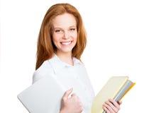 Retrato de la mujer de negocios joven Foto de archivo