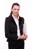Retrato de la mujer de negocios positiva. Imágenes de archivo libres de regalías