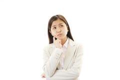 Retrato de la mujer de negocios que parece difícil. Imagenes de archivo