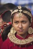 Retrato de la mujer de Tharu, Nepal Fotos de archivo