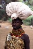 Retrato de la mujer de Turkana Fotos de archivo