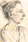 Retrato de la mujer desconocida 2 Fotos de archivo libres de regalías