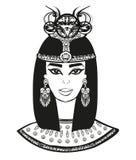 Retrato de la mujer egipcia hermosa ilustración del vector