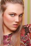 Retrato de la mujer enojada Imagen de archivo