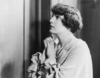 Retrato de la mujer esperanzada Fotografía de archivo