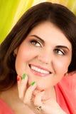 Retrato de la mujer feliz imagen de archivo libre de regalías