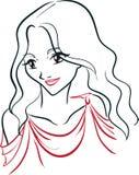 Retrato de la mujer griega ilustración del vector
