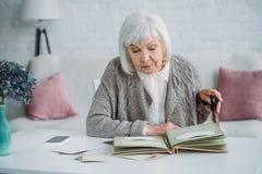 retrato de la mujer gris del pelo fotografía de archivo libre de regalías