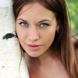 Retrato de la mujer hermosa joven Fotos de archivo