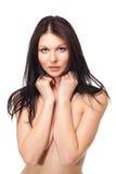 Retrato de la mujer hermosa y atractiva Foto de archivo