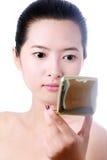 Retrato de la mujer joven asiática atractiva Fotos de archivo libres de regalías