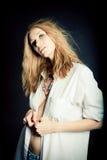 Retrato de la mujer joven atractiva Fotografía de archivo libre de regalías